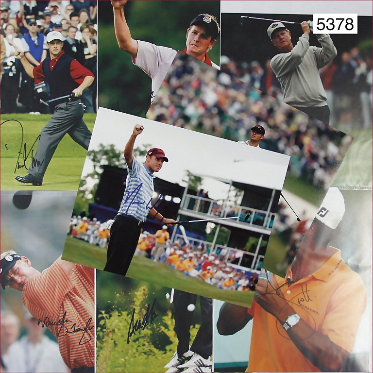 signatures of well-known golfers, e.g. Vaughn Taylor,