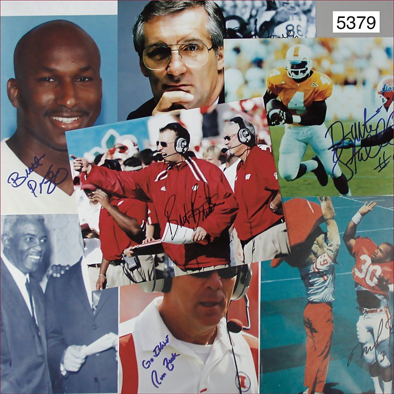 mixed lot of autographs of well-known football players,