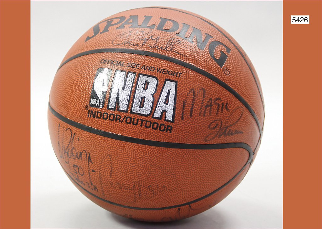 basketball, by the NBA, with original signatures, by