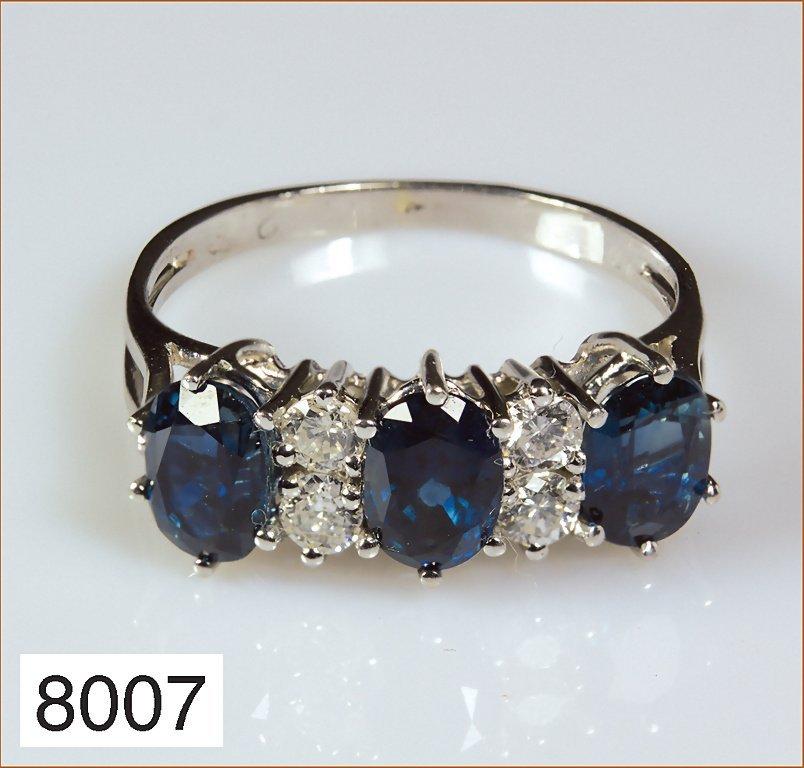 Ring WG 585/000 mit 4 Brillanten, weiß, P1, gesamt ca.