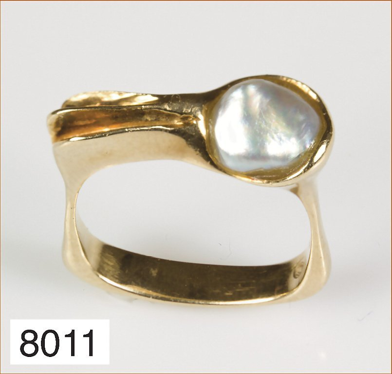 Ring GG 585/000 mit Süßwasserperle, RW ca. 50
