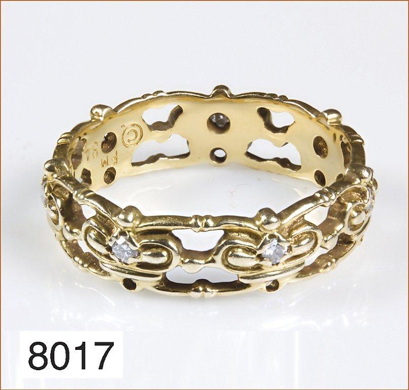 Ring, ausgefallenes Designerstück, GG 585/000, 7 Brilla
