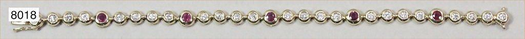 Klassisches Armband GG 585/000, 24 Brillanten, gesamt c