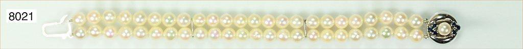 Akojaperlarmband, Perlen 7-7,5 mm, schöner Lüster, Schl