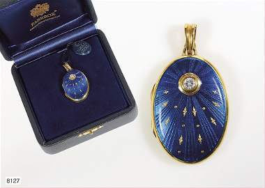 Medaillon,FABERGE,GG 750/000,Medaillon mit sehr fein ge