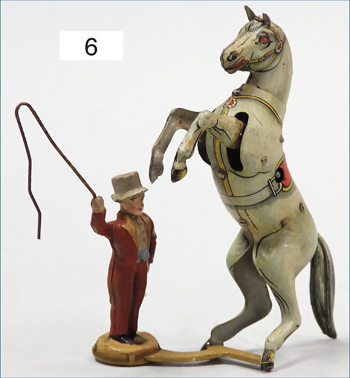 KÖHLER, animal trainer with circus horse, lithographed