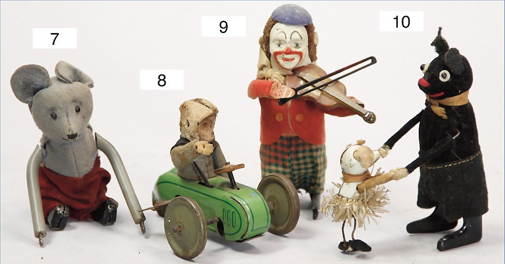 SCHUCO, dancer, clown with violin, 11.5 cm, clock
