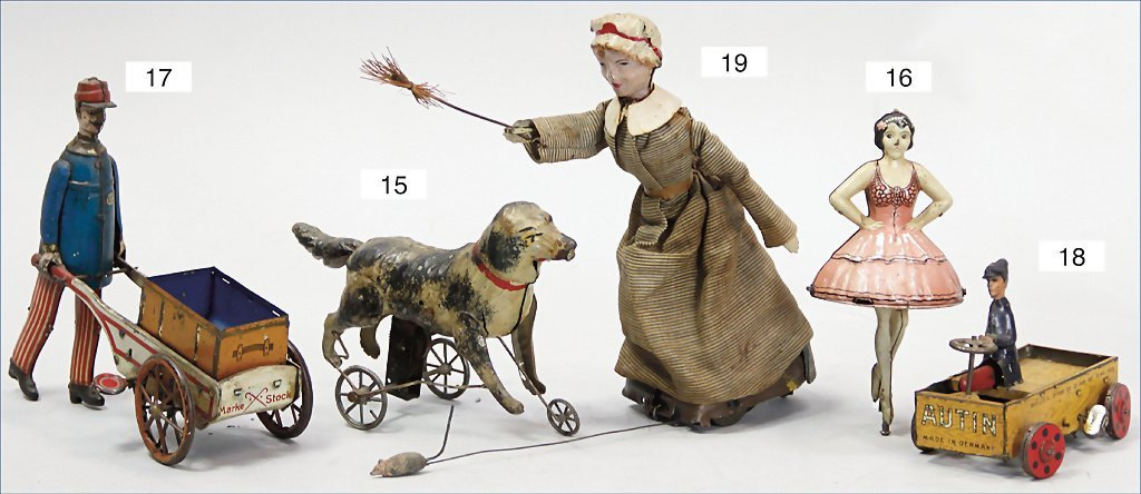 GÜNTHERMANN, dog, handpainted tin, c. 1910, 17 cm,