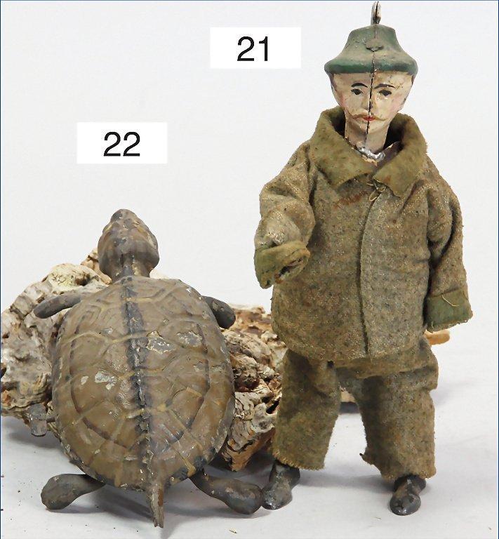 probably GÜNTHERMANN, turtle, handpainted tin, c. 1910,