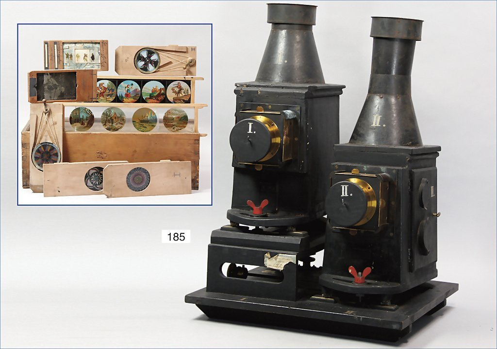 Laterna Magica (professional device), 2-parts, wood and