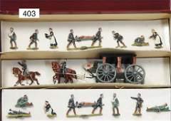 fine pewter figures, combat medics, 3 cm, half plastic,