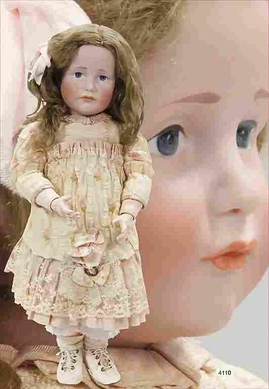 KÄMMER & REINHARDT, bisque socket head doll, 114, blue