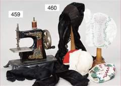 children`s sewing machine, tin, decor fairytale motif,