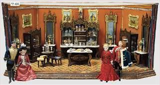 dollhouse, Viennese café, Biedermeier, furnished in