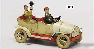 STOCK, Schaff Schaff, automobile, handpainted tin, with