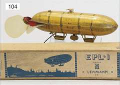 LEHMANN, Epli 651, zeppelin, lithographedtin, 18.5 cm,