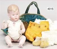 unusual biscuit porcelain socket head character doll,