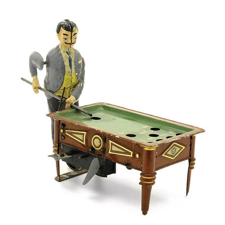 Günthermann, Siegfried billiards player, sheet metal,