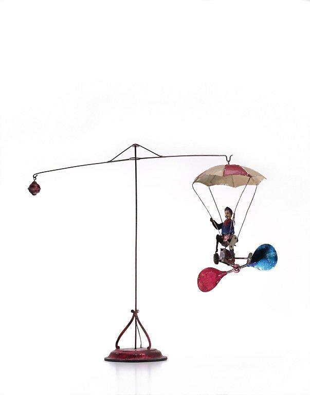 Müller & Kadeder skydiver, sheet metal, around 1910,