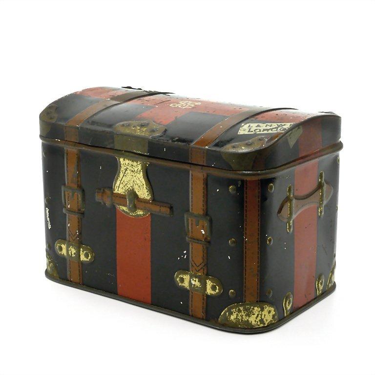 Hudson Scott & Sons. Ltd. suitcase, sheet metal, around