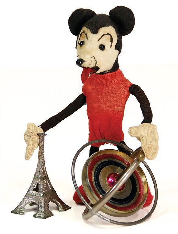 gyroscope on Eiffel Tower, around 1930, with a diameter