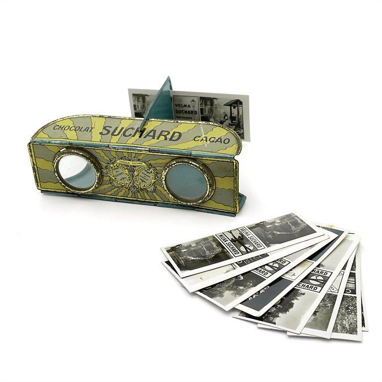 stereoscope, around 1930, 32 x 110 x 80 mm, tinplate,