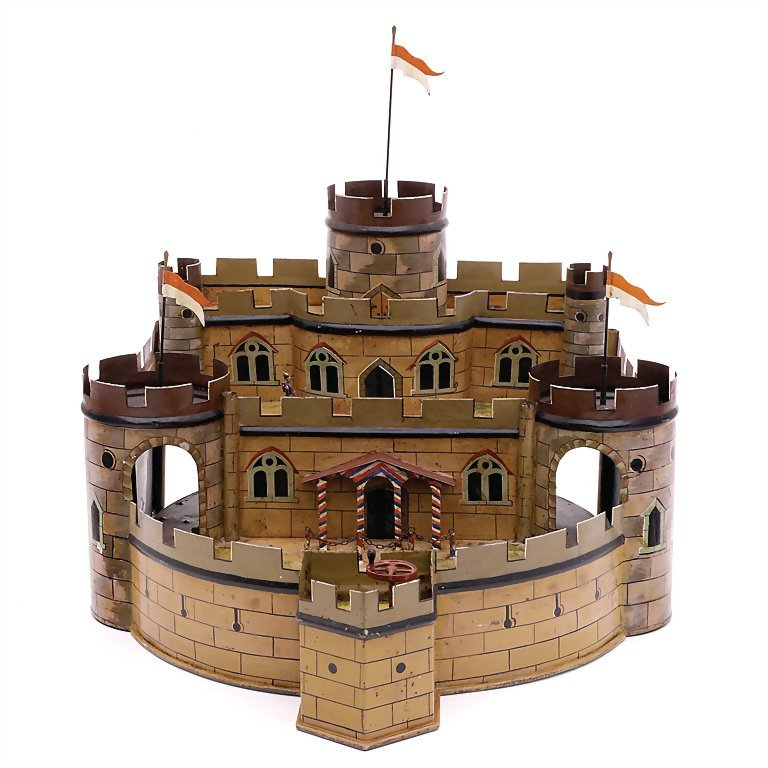 Lutz, Ludwig fortress with turntable, handpainted sheet