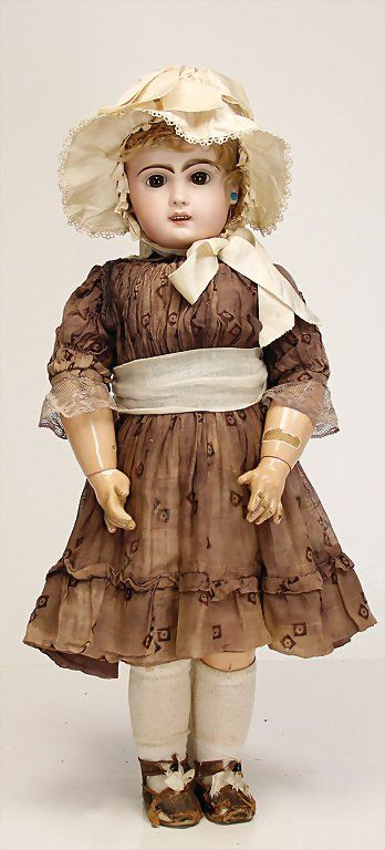 TETE JUMEAU doll with bisque head, France, 60 cm,
