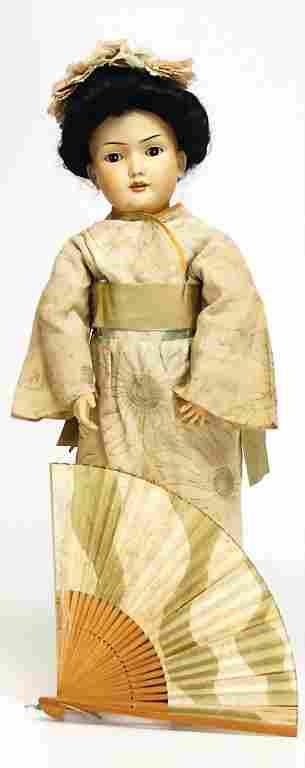 BRUNO SCHMIDT 500, asiatic doll with bisque head, 51
