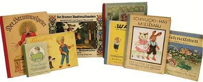 """Konv. alte Kinderbücher, darunter """"Struwwelpeter und"""