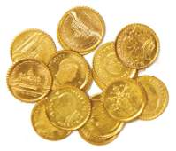15 small gold coins for a highquality dollhouse shop