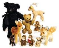 mixed lot cuddly toys and bears, black bear in Steiff