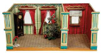 small 2--part, dollhouse casing, around 1900, broad 50