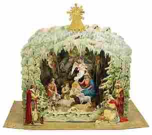 Christmas tree decoration, splendid set up crib,