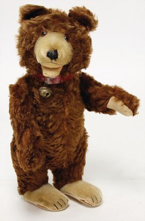 Steiff Teddy-baby, Dark-brown, With Rests At The