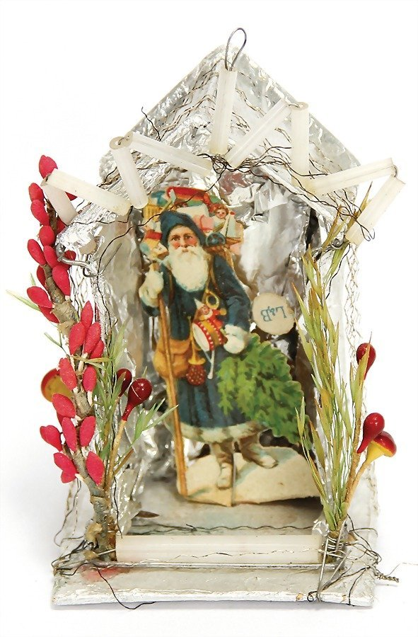 SEBNITZ Christmas tree decoration, cardboard, tinfoil,