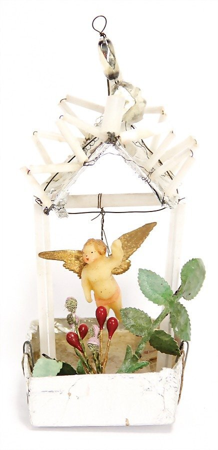 SEBNITZ wire, cardboard, tinfoil, small wax angel, 10