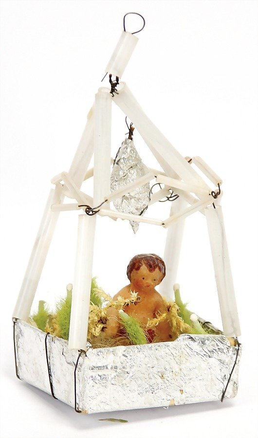 SEBNITZ Christmas tree decoration, tin foil, cardboard,