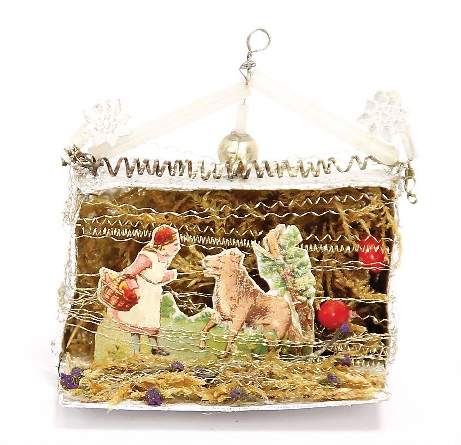 SEBNITZ Christmas tree decoration, cardboard, wire,