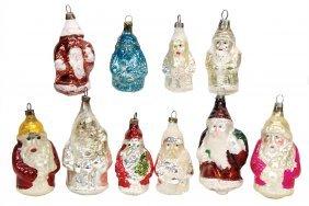 Christmas Tree Decoration, Santa Claus, Mirror Glass,