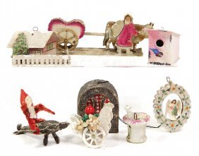Christmas Tree Decoration, Mixed Lot Of 8 Pieces,