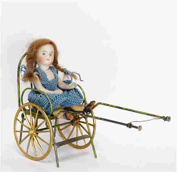 all-bisque doll, 10.5 cm, socket head, painted eyes,