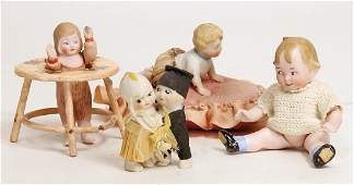 small all-bisque doll, with appropiated clothes, in