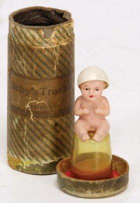 Kl. Celluloid Baby, Orig.- Behälter, Um 1920, Mit