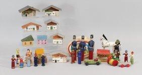 Erzgebirge Konv. Holzspielzeug, Kl. Figuren, Soldaten,