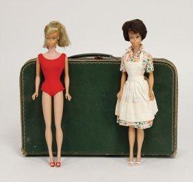 Mattel 2 X Barbie, Bubblecut, Brünette, Ponytail,