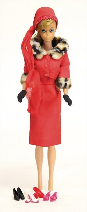 Mattel Ponytail Barbie, Blond, In Outfit Nr. 1640,