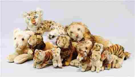 30 Teile Raubkatzen, Löwen, Tiger, etc., Steiff u.
