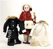 Porzellankopf-Puppe, gem. CMB5 Dep, braune Schlafaugen,