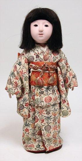 Asiatische Muschelkalk Puppe ( Ishimatzu Puppe) Braune